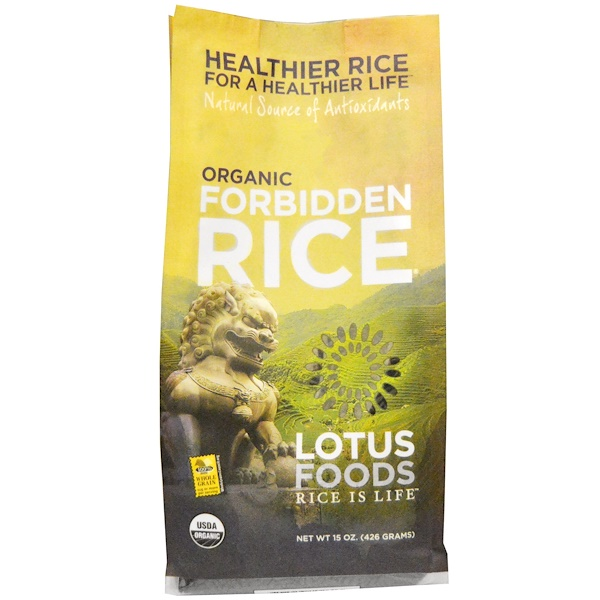 Lotus Foods, Organic Forbidden Rice, 15 oz (426 g)