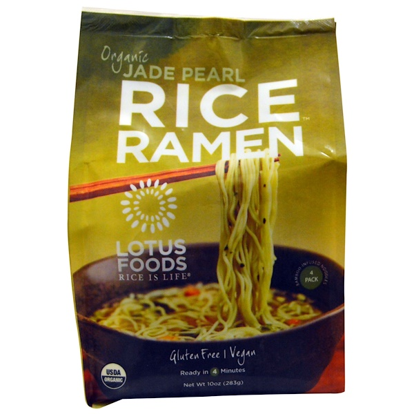 Lotus Foods, Organic, Jade Pearl Rice Ramen, 4 Packs, 10 oz (283 g) (Discontinued Item)
