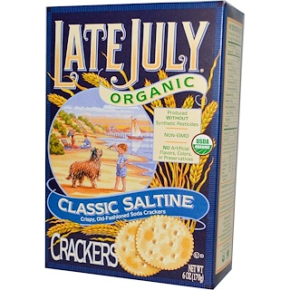 Late July, Organic Classic Saltine Crackers, 6 oz (170 g)