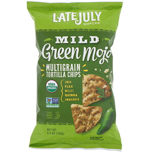 Лэйт Джулай, Multigrain Tortilla Chips, Mild Green Mojo, 5.5 oz (156 g) отзывы