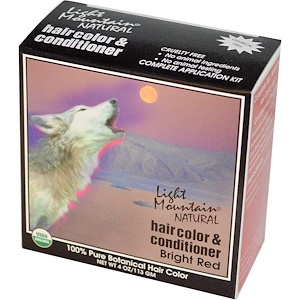 Лайт Маунтэйн, Natural Hair Color and Conditioner, Bright Red, 4 oz (113 g) отзывы покупателей