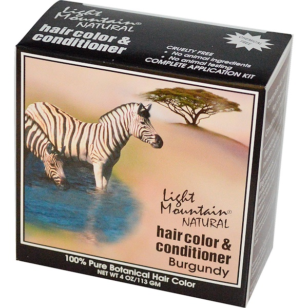 Light Mountain, Natural Hair Color & Conditioner, Burgundy, 4 oz (113 g) (Discontinued Item)