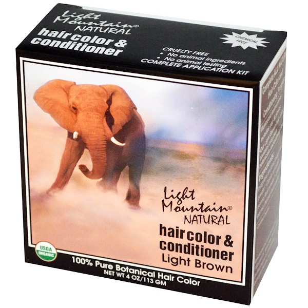 Light Mountain, Natural Hair Color & Conditioner, Light Brown, 4 oz (113 g)