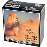 Отзывы о Light Mountain, Натуральное средство для окрашивания и ухода за волосами, Темно-коричневый, 4 унции (113 г)