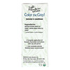 Light Mountain, Color the Gray! Natural Hair Color & Conditioner, Black, 7 oz (198 g)