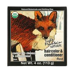 Light Mountain, 天然染髮劑和護髮素,紅色,4 盎司(113 克)