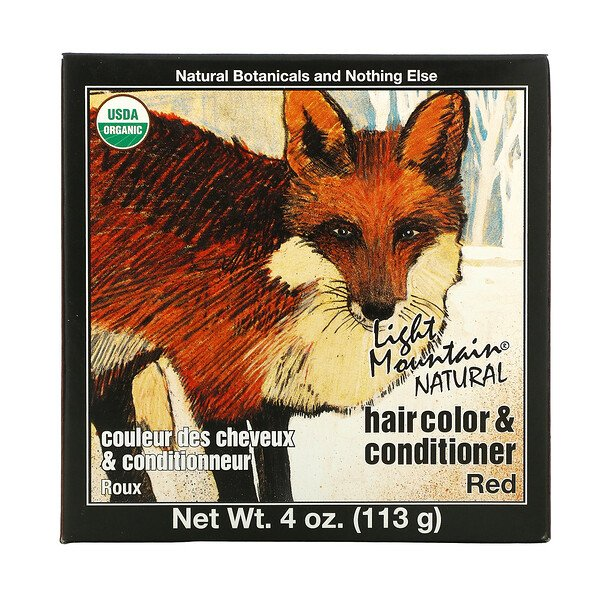 Natural Hair Color & Conditioner, Red, 4 oz (113 g)