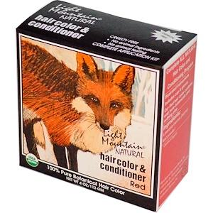 Лайт Маунтэйн, Organic Natural Hair Color & Conditioner, Red, 4 oz (113 g) отзывы покупателей