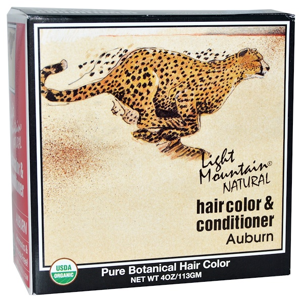 Light Mountain, Organic Natural Hair Color & Conditioner, Auburn, 4 oz (113 g)