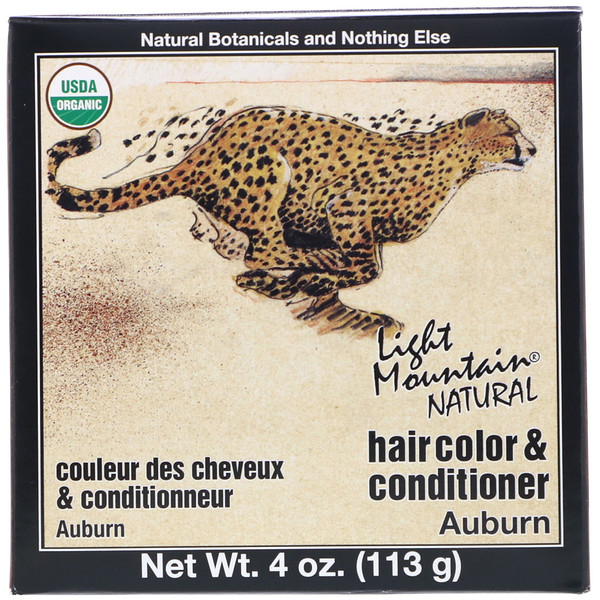 Light Mountain, Organic Natural Hair Color & Conditioner Application Kit, Auburn, 4 oz (113 g) (Discontinued Item)