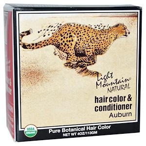 Light Mountain, Органическая натуральная карска для волос & кондиционер, Рыжий, 4 унций (113 г) инструкция, применение, состав, противопоказания