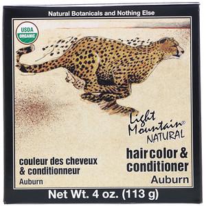 Лайт Маунтэйн, Organic Natural Hair Color & Conditioner Application Kit, Auburn, 4 oz (113 g) отзывы покупателей