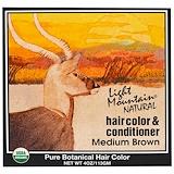 Отзывы о Light Mountain, Натуральный краситель и кондиционер для волос, средне-коричневый, 113 г