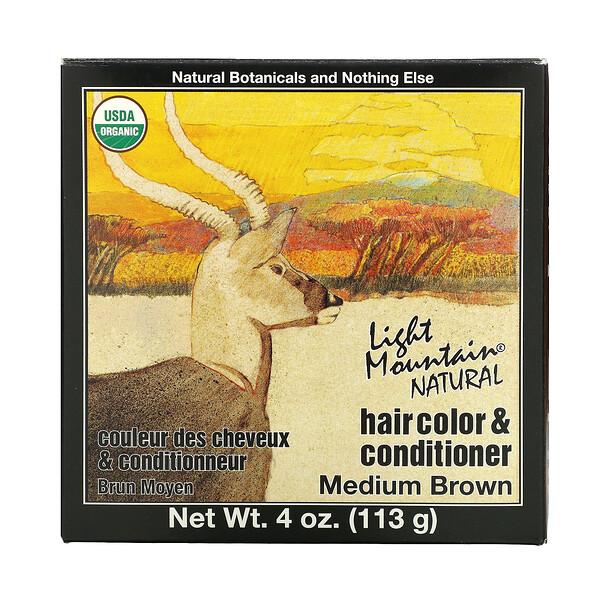 Natural Hair Color & Conditioner, Medium Brown, 4 oz (113 g)