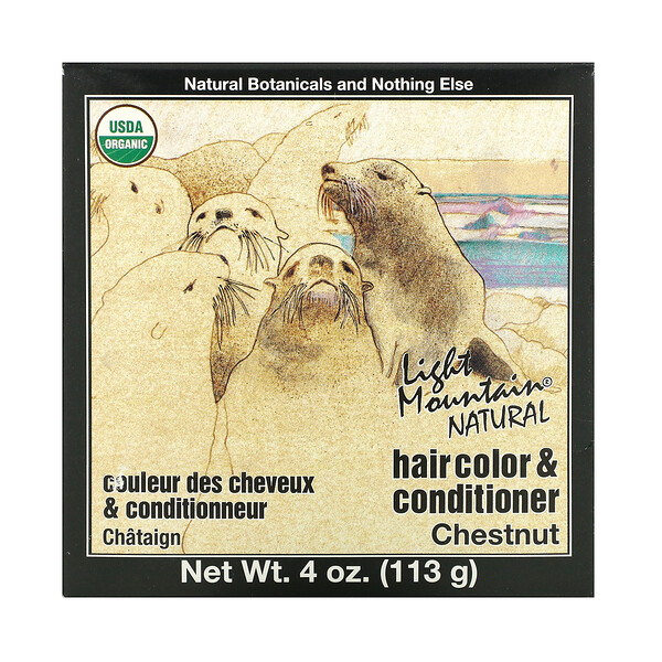 Natural Hair Color & Conditioner, Chestnut, 4 oz (113 g)