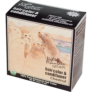 Лайт Маунтэйн, Natural Hair Color & Conditioner, Chestnut, 4 oz (113 g) отзывы покупателей