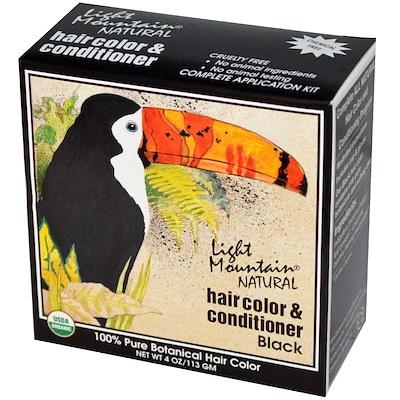 Натуральное средство для окрашивания и ухода за волосами, Черный, 4 унции (113 г)