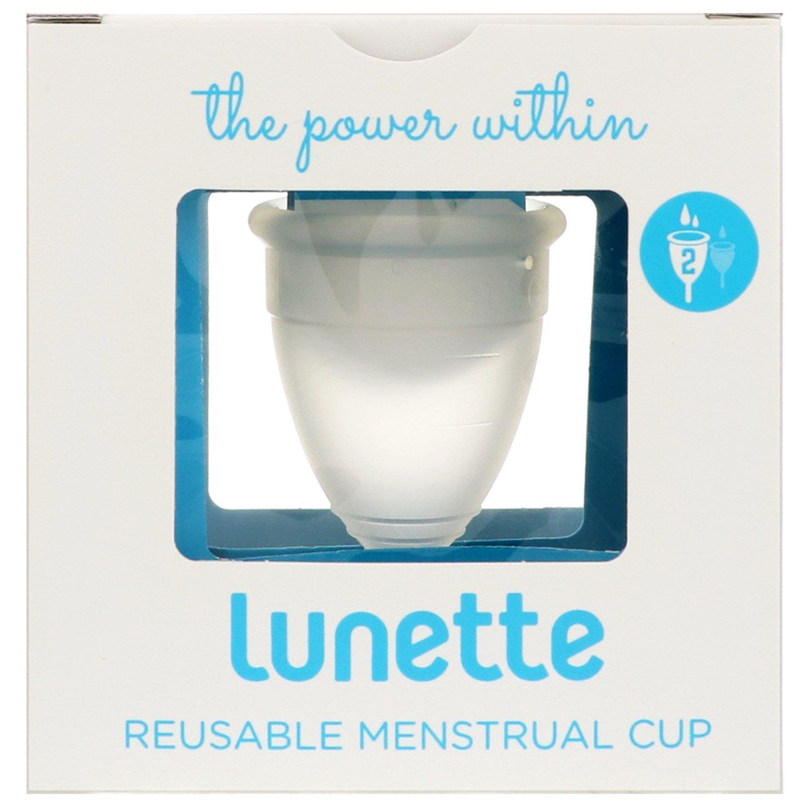 Lunette, Менструальная капа многоразового использования, модель 2, прозрачная, 1 шт.