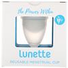 Lunette, 再利用可能月経カップ、モデル2、透明、1カップ