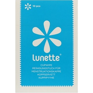 Lunette, Disinfecting Cupwipe, 10 Wipes
