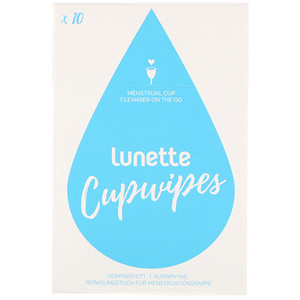 Lunette, Cupwipe, Menstrual Cup Cleanser On The Go, 10 Wipes отзывы