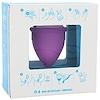 Lunette, Coupe menstruelle réutilisable, modèle 1, pour flux léger à normal, Violet, 1 coupe
