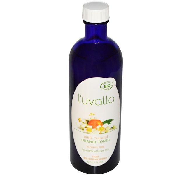 L'uvalla Certified Organic, オレンジ・トーナー, アルコールフリー, 6.7 液量オンス (Discontinued Item)