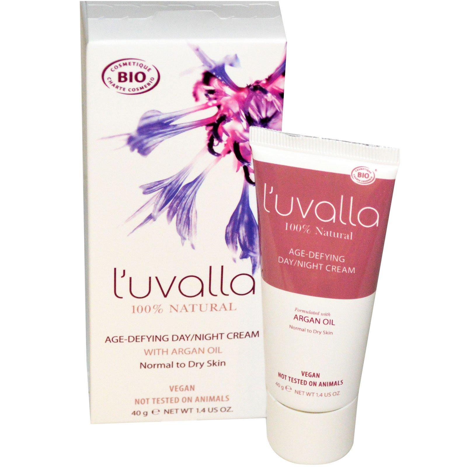 L'uvalla Certified Organic, Антивозрастной дневной / ночной крем, 1,4 унции (40 г)