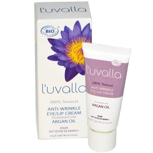L'uvalla Certified Organic, Anti-Wrinkle, Eye / Lip Cream, 0.7 oz (20 g) (Discontinued Item)