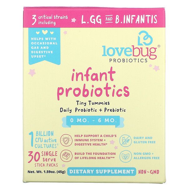 Infant Probiotics, 0-6 Months, 1 Billion CFU, 30 Single Stick Packs, 0.05 oz (1.5 g) Each