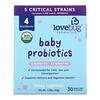 LoveBug Probiotics, Baby Probiotics, 6-12 Months, 4 Billion CFU, 30 Single Serve Stick Packs, 1.59 oz (45 g)