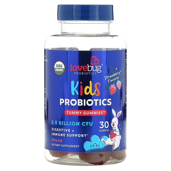Kids Probiotics, Tummy Gummies, Strawberry , 2.5 Billion CFU, 30 Gummies