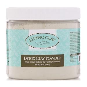 Living Clay, Detox Clay Powder, 16 oz (454 g) отзывы