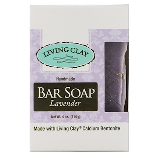 Living Clay, Handmade Bar Soap, Lavender, 4 oz (114 g)