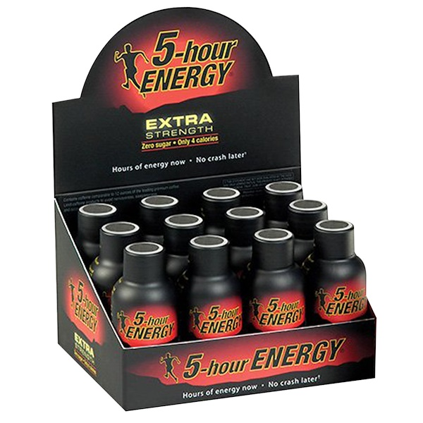 Living Essentials, 5 Hour Energy, Extra Strength, Berry, 12 Bottles, 1.93 fl oz Each (Discontinued Item)