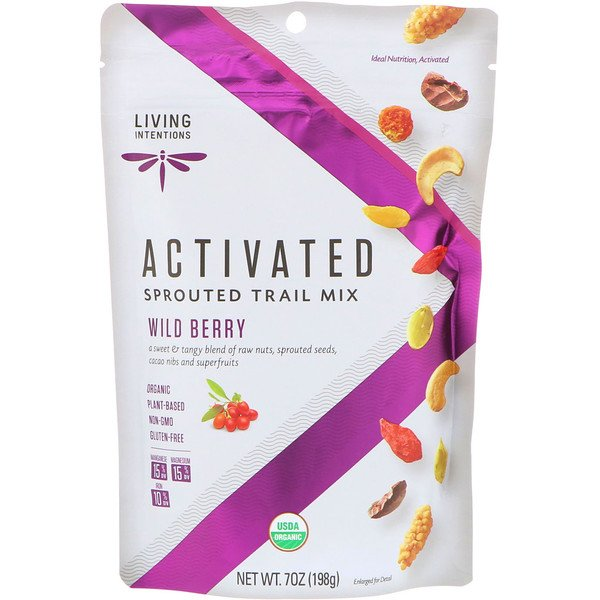 Living Intentions, Activated, Sprouted Trail Mix, Wild Berry, 7 oz (198 g) (Discontinued Item)