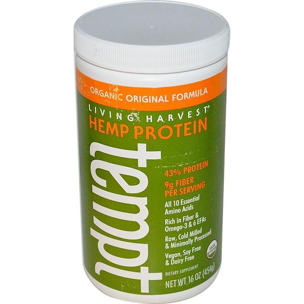 Living Harvest, Hemp Protein Tempt, Organic Original Formula, 16 oz (454 g) (Discontinued Item)