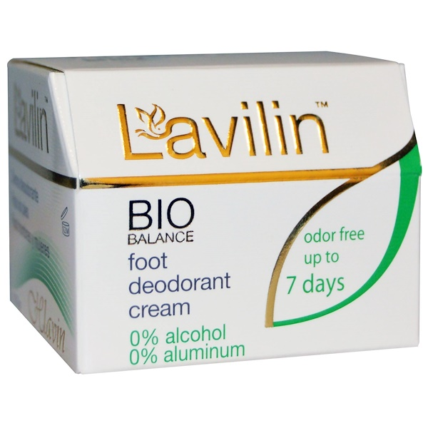 Lavilin, Bio Balance, Foot Deodorant Cream for Men and Women, 12.5 g