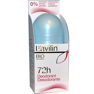 Lavilin, 72-часовой дезодорант, 2,1 унции (60 мл)