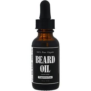 Leven Rose, Huile pour barbe 100 % Pure et biologique, sans parfum, 30 ml (1 fl oz)