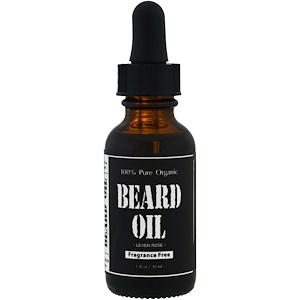 Leven Rose, 100% Pure Organic Beard Oil, Fragrance Free , 1 fl oz (30 ml) отзывы покупателей