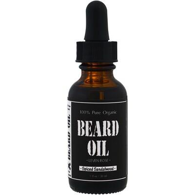 Купить 100% чистое органическое масло для бороды, с ароматом сандалового дерева, 1 ж. унц. (30 мл)