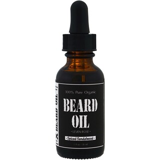 Leven Rose, 100% Pure Organic Beard Oil, Spiced Sandalwood, 1 fl oz (30 ml)
