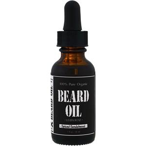 Leven Rose, 100% Pure Organic Beard Oil, Spiced Sandalwood, 1 fl oz (30 ml) отзывы покупателей