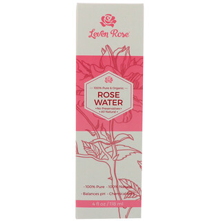 Leven Rose, Eau de rose bio 100 % pure, 4 fl oz (118 ml)