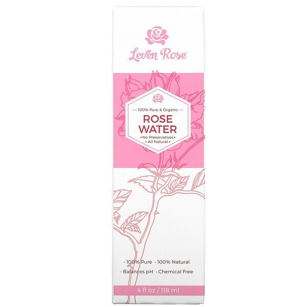 100% Pure & Organic, Rose Water, 4 fl oz (118 ml)