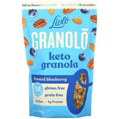 Livlo Granolo, Keto Granola, Frosted Blueberry, 10.5 oz (298 g)