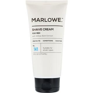 Marlowe, Crema para afeitar para hombres, N.°141, 177,4ml (6oz.líq.)