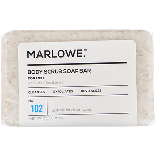 Marlowe, 男士身体磨砂皂,102 号,7 盎司(198.4 克)