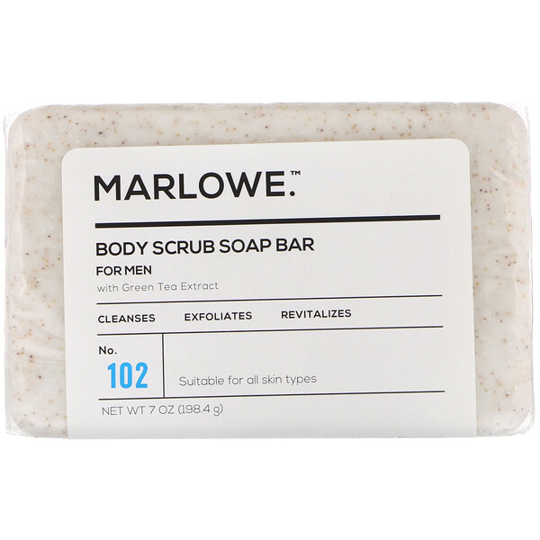 Marlowe, Men's Body Scrub Soap Bar, No. 102, 7 oz (198.4 g)